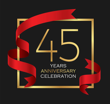 45th years anniversary celebration background