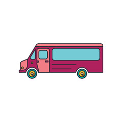Bus icon, cartoon style