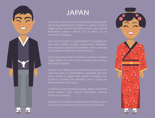 Japan Traditions and Customs Vector Illustration