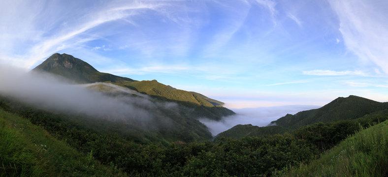 Panoramic view of Mt. Rausu on the Shiretoko Peninsula in northeastern Hokkaido