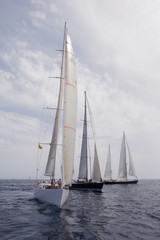 Sailing. Sailingship. Superyacht at sea.