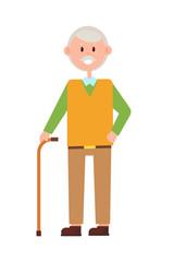 Funny Grandad, Bright Banner, Vector Illustration