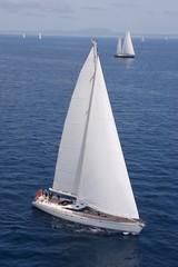 Sailng. Sailboat at sea