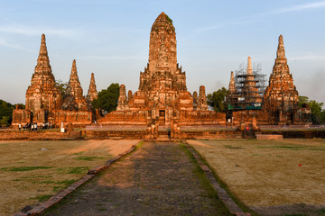 Temple of Ayutthaya historical park on Thailand