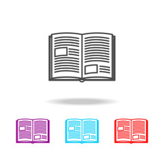 Book icon. Elements of education in multi colored icons. Premium quality graphic design icon. Simple icon for websites, web design, mobile app, info graphics