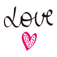 Love handdrawn lettering