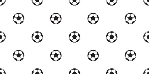 soccer ball seamless pattern football vector tile background repeat wallpaper scarf isolated