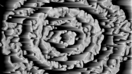 Design of abstract digital pixel noise glitch, rows, error video damage, 3d rendering background, computer generated