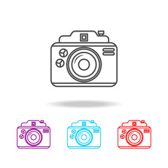 camera icons. Elements of photo in multi colored icons. Premium quality graphic design icon. Simple icon for websites, web design, mobile app, info graphics
