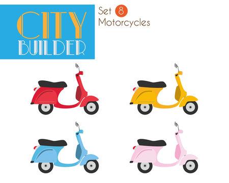 City Builder Set 8: Motorcycles