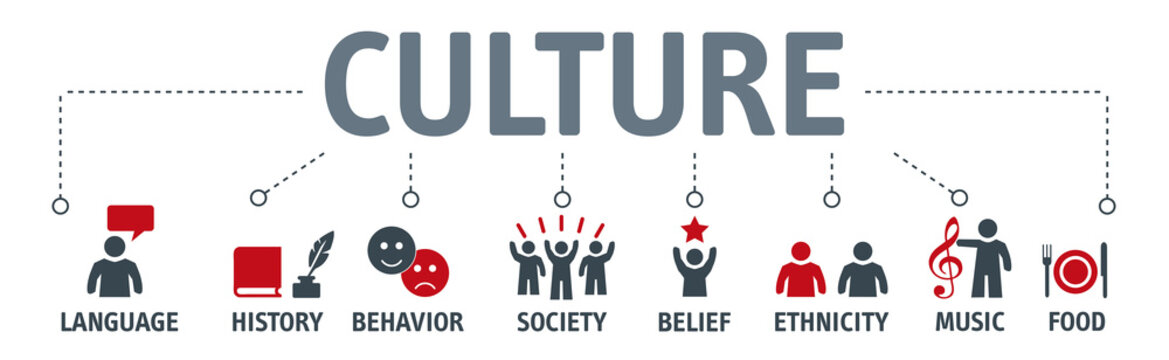 Banner Culture Concept vector illustration
