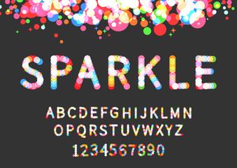 Sparkle display font