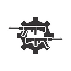 Weapon logo. Gun Icon.  Rifle and Pistol symbol. Vector eps 08.