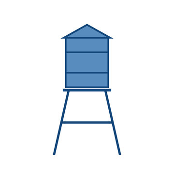 Old water tower icon