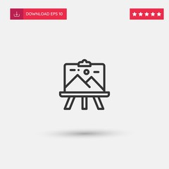 Outline Canvas Icon isolated on grey background. Modern simple flat symbol for web site design, logo, app, UI. Editable stroke. Vector illustration. Eps10