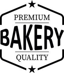 premium quality bakery vintage rubber stamp web icon on white background