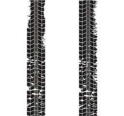 Tire tracks. Vector illustration on white background.