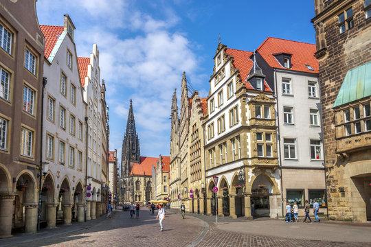 Prinzipalmarkt, Lambertikirche, Münster