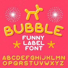 Funny label typeface
