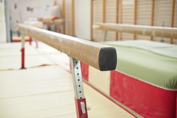 Foto op Textielframe Gymnastiek Gymnastics Hall. Gymnastic equipment.Beam