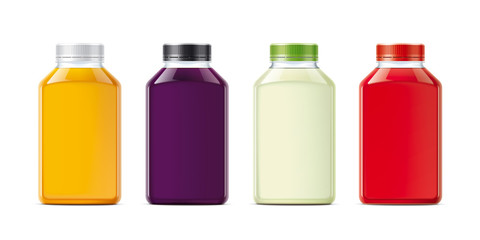 Bottles for juice and other drinks. Small size version.