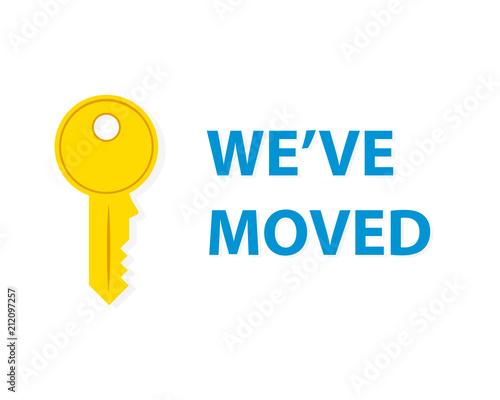 we ve moved announcement stock image and royalty free vector files