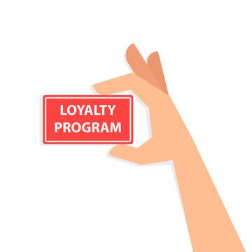 Hand holding loyalty program card
