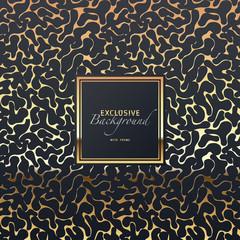 edler luxuriöser golden glänzender abstrakter Hintergrund mit Rahmen, rapportierbar