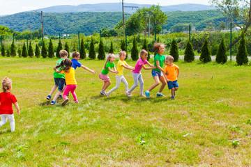 Children summer camp outdoor games