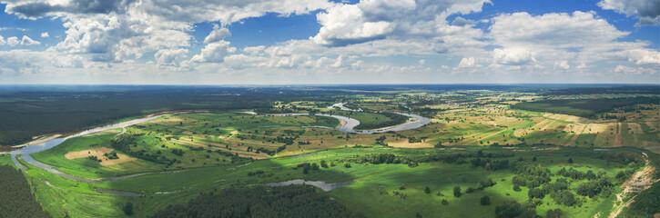Fototapeta Panorama rzeki Bug w okolicach Szumina / Wyszkowa obraz