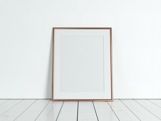Poster product design styled mockup. Empty frame mockup.