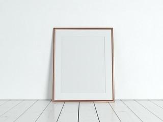 Poster product design styled mockup. Empty frame mockup.