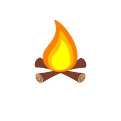 Simple campfire icon