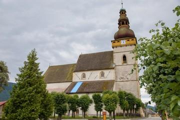 In de dag Monument Old church in Stitnik, Slovakia