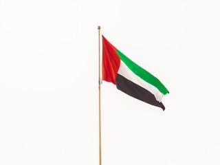 Flag of the United Arab Emirates. Dubai.