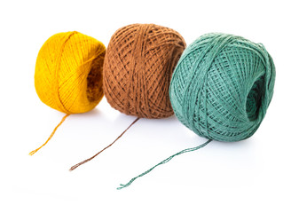tangle of thread for knitting