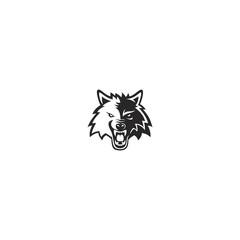 head wolf logo design