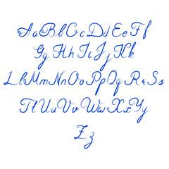 Alphabet, lettering, handwritten, font, classic