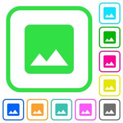 Image vivid colored flat icons