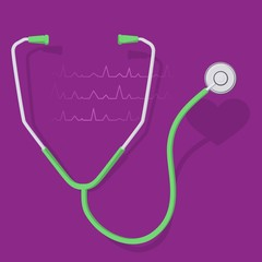 stethoscope and heart 2