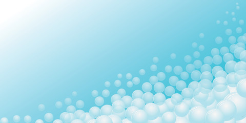 blue gradient with blue bubbles