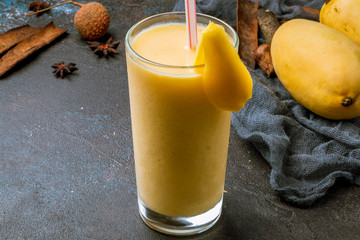 mango shake Vietnamese drink