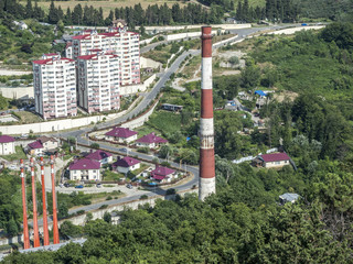 Sightseeing tower on the city of Sochi