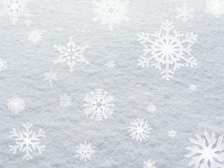 Fine snow background white stillness, winter in Sweden.