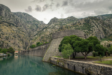 Wall Mural - Kotor, Montenegro. Bay of Kotor bay is most beautiful place on Adriatic Sea