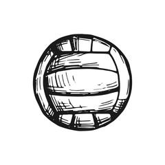 volleyball ball vector sketch isolated