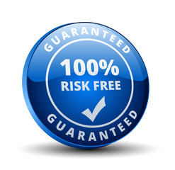 Risk Free Guaranteed button illustration