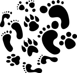 footprints stencils art