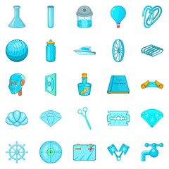 Innovations icons set. Cartoon set of 25 innovations vector icons for web isolated on white background
