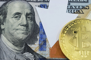 Dollars and coin bitcoin which falls in price